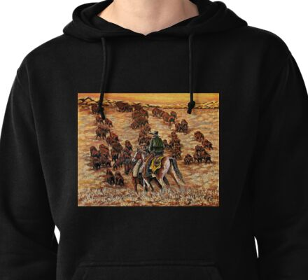 Driving The Herd, The Painting Pullover Hoodie