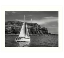 Sailing past the Baltimore Beacon Art Print