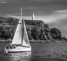Sailing past the Baltimore Beacon by Donncha O Caoimh