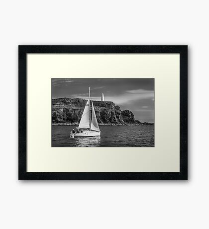 Sailing past the Baltimore Beacon Framed Print
