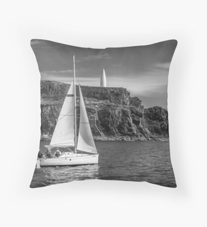 Sailing past the Baltimore Beacon Throw Pillow