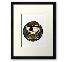 south metal snake (with background & white border) Framed Print