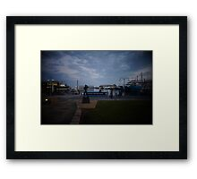 bronzed bon harbour star Framed Print