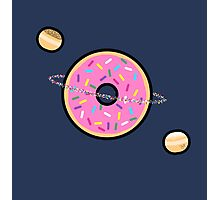 Donut Planets- Pink with Sprinkles Photographic Print