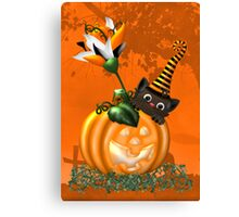 Cheeky Halloween Cat Canvas Print