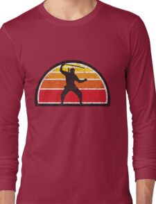 Vintage Ninja Sunset Long Sleeve T-Shirt