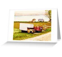 Cranberry Bog Truck Greeting Card