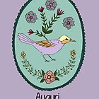 Auguri Bird with Purple Background by MADCreations