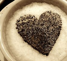 Coffee Cup Chocolate Heart by Andy Merrett