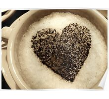 Coffee Cup Chocolate Heart Poster