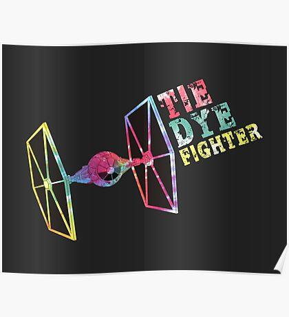 Tie Dye Fighter Poster
