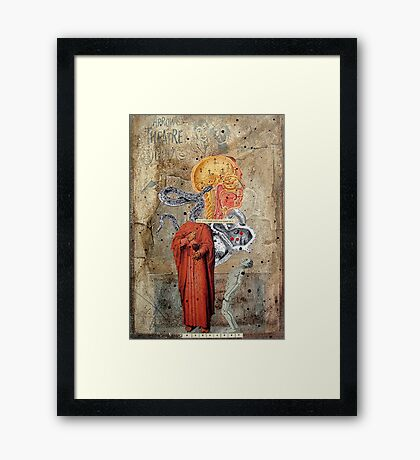 ACTO DE REVERENCIA REPETIDO 7 VECES (bow act repeat 7 times) Framed Print