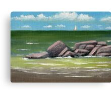 Distant Sail Canvas Print