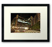 Buildings on night  Framed Print