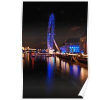 London Eye on night Poster