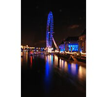 London Eye on night Photographic Print