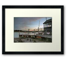 Sunset at Wivenhoe Quayside Framed Print