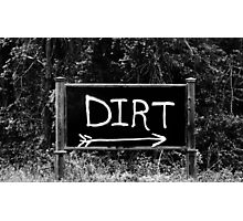 Rural Area Sign Photographic Print