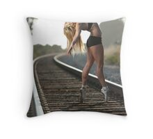 Ballet on the Tracks 1 Throw Pillow