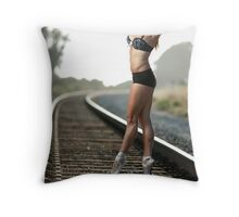Ballet on the Tracks 2 Throw Pillow