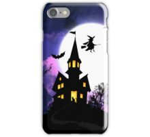Scary Haunted House Happy Halloween iPhone Case/Skin