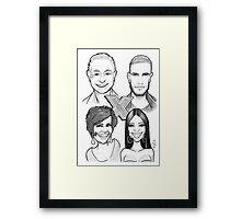 Caricature - X-Factor Judges Framed Print