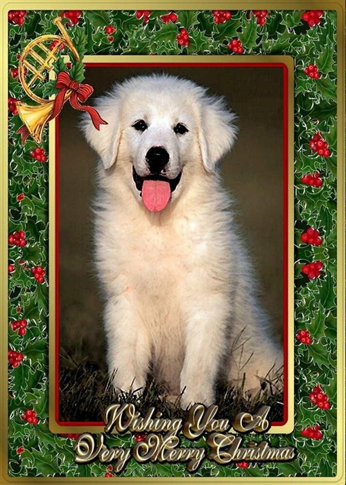 Great Pyrenees Dog Christmas by Oldetimemercan