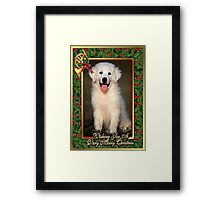 Great Pyrenees Dog Christmas Framed Print