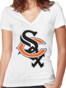 Bear Sox Women's Fitted V-Neck T-Shirt