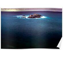 Ocean in evening light Poster