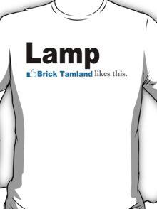 Lamp - Brick Tamland Likes This Facebook Thumbs Up Mens White T-Shirt