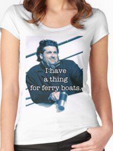 Derek Shepherd Ferry boats Women's Fitted Scoop T-Shirt