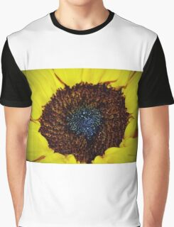 Center Of A Sunflower Graphic T-Shirt
