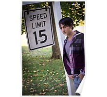 Speed limit 15 Poster