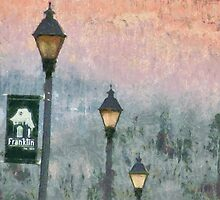 Streetlights In Twilight by Jean Gregory  Evans