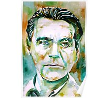 LORCA - watercolor portrait Poster