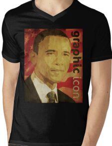 Graphic Icon Mens V-Neck T-Shirt