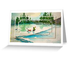 Ice Fishing Greeting Card