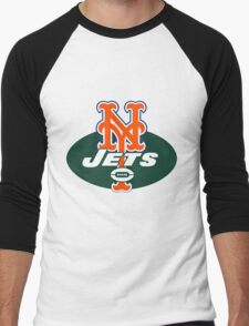 MetsJets Men's Baseball ¾ T-Shirt