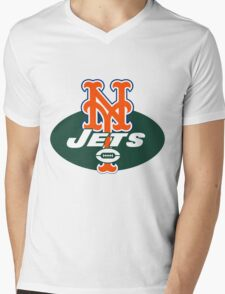 MetsJets Mens V-Neck T-Shirt