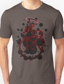 Furry shirt - Red Outline Unisex T-Shirt