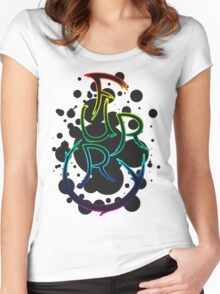 Furry shirt - Rainbow Outline Women's Fitted Scoop T-Shirt