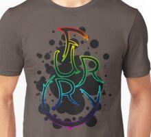 Furry shirt - Rainbow Outline Unisex T-Shirt