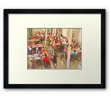 Tea and Cookies in Gabarus Cape Breton Framed Print