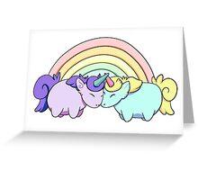 Rainbows and Chubbicorns Greeting Card