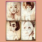 Silver Screen Actresses IPAD Case by loflor73