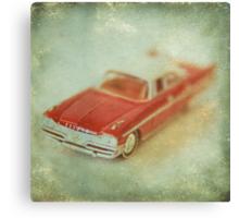Vintage Cherry Red Chrysler De Soto Canvas Print