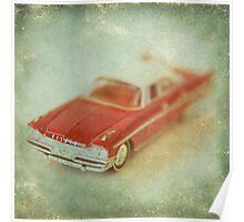 Vintage Cherry Red Chrysler De Soto Poster