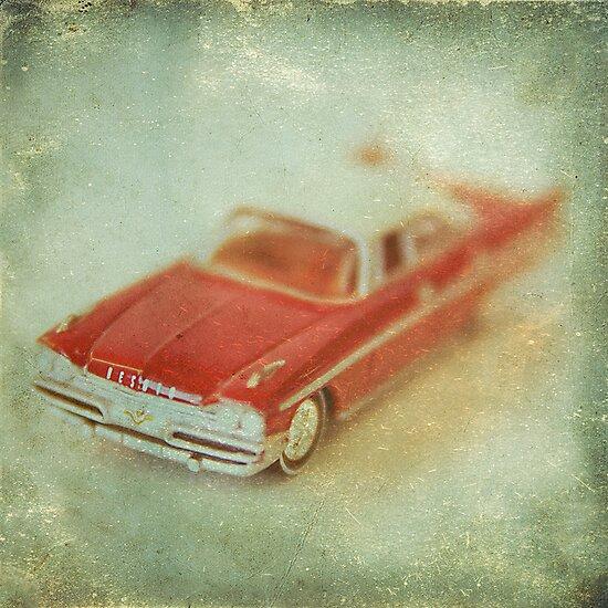 Vintage Cherry Red Chrysler De Soto by Honey Malek