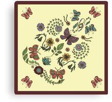 Mirror Garden Hankie Canvas Print